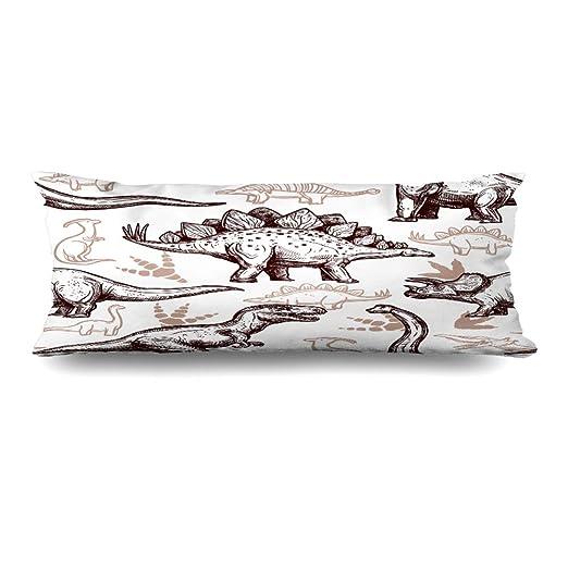 Ahawoso Funda de almohada con cierre de cremallera, 20 x 60 ...