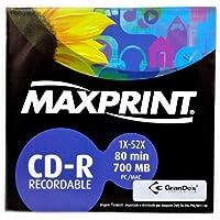 MÍDIA CD-R Gravável MAXPRINT 700 MB - 80 MIN - 52X - Envelope papel