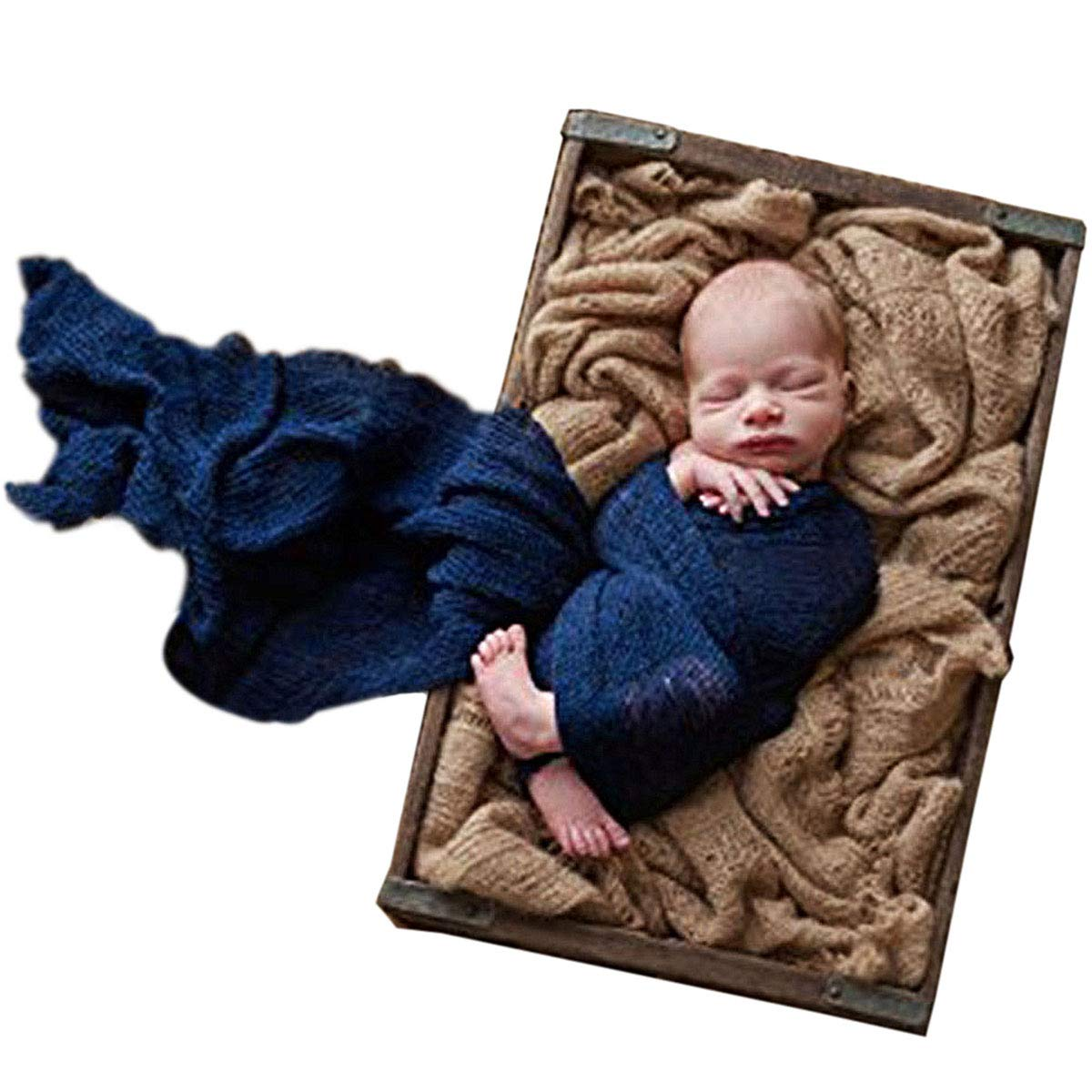 Amazon.com: Sunmig Newborn Baby Stretch Wrap Photo Props