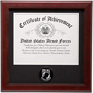 product image for flag connections US POW/MIA Medallion 8-Inch by 10-Inch Certificate Frame