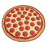 MoYoTo Adult Personalized Hamburger Pizza Printed Round Beach Picnic Table Cloth(Pizza) offers