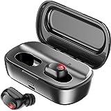 ワイヤレス イヤホン 自動ペアリング 2200mAh充電ケース付き イヤホン bluetooth ブルートゥース イヤホン 完全ワイヤレスイヤホン HiFi高音質 両耳通話 両耳片耳 ワンボタン設計 自動オン/オフ iPhone Android対応