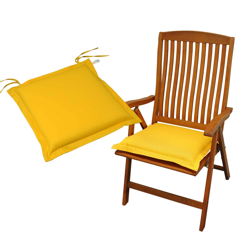 Indoba 2 x Sitzkissen Premium Polsterauflage, Gelb