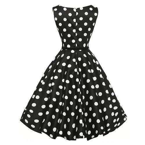 6ea66b99a2ebe UOMOGO® Women s Retro 1950s Vintage Swing Rockabilly Party Cocktail Dress   Amazon.it  Scarpe e borse