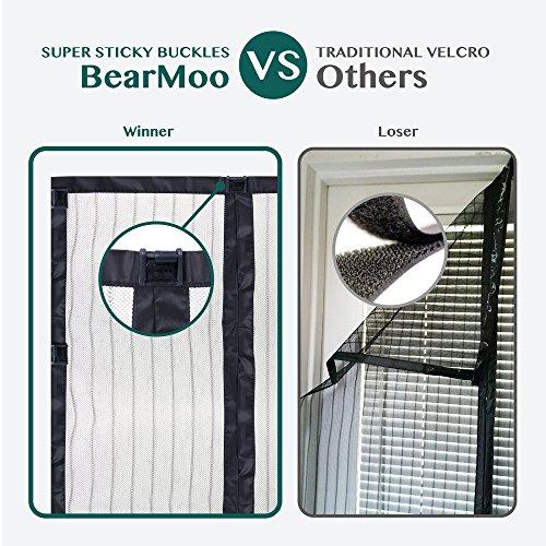 magnetic screen door bearmoo updated sticky design door screen durable screen mesh fits