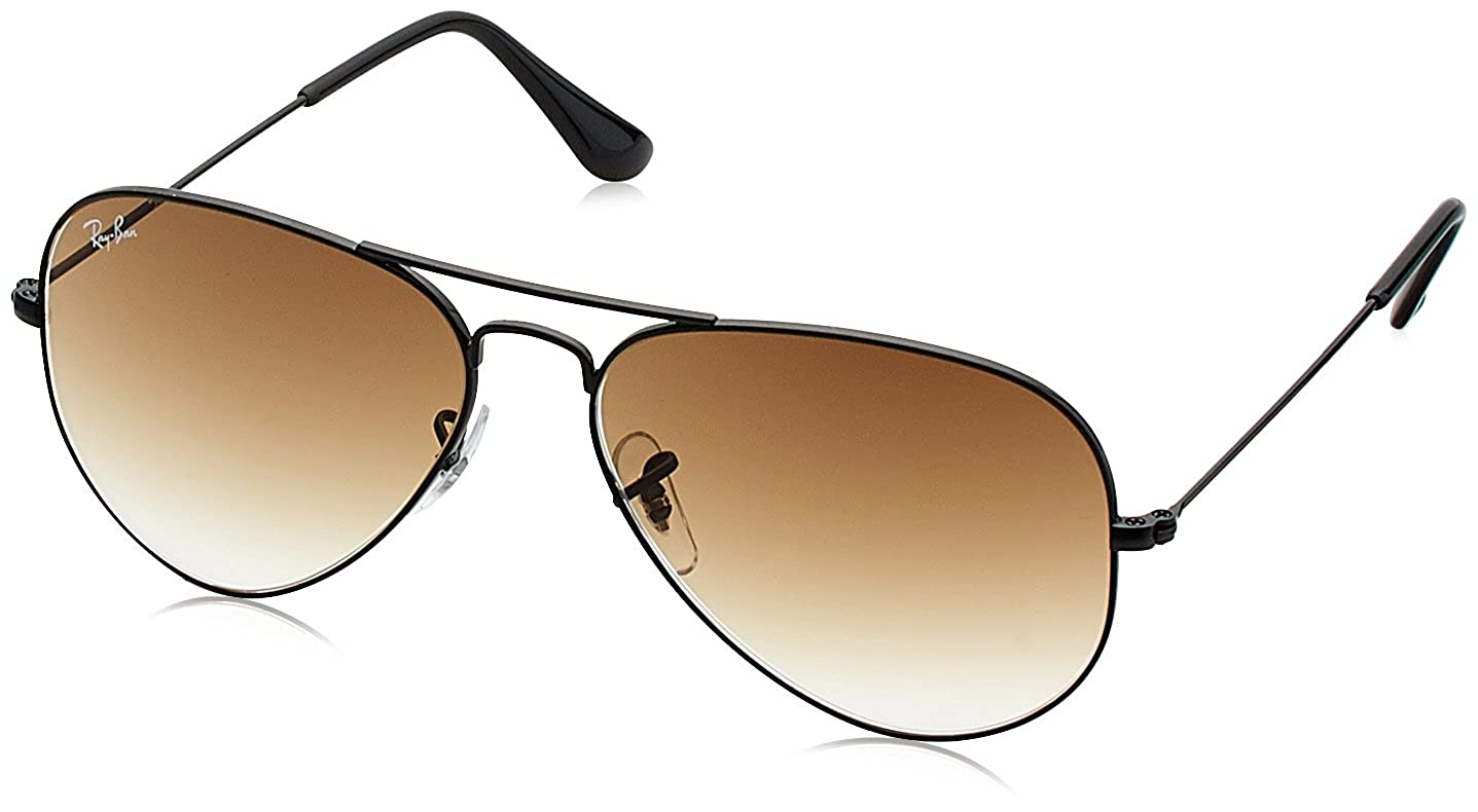 5d7a3e4d05b Ray-Ban Aviator Men s Sunglasses (0RB3025I002 5158 Brown)  Amazon.in   Clothing   Accessories