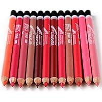 YeeSure 12 pc Matte Lip Liner Pencils Set for 12 Colors Waterproof Fine