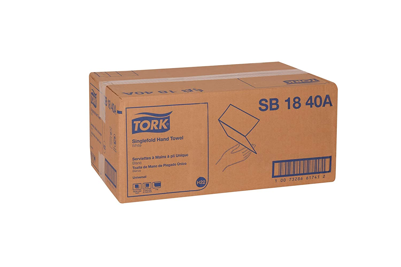 Tork Universal SB1840A Singlefold Paper Hand Towel, 1-Ply, 9.125