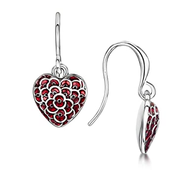 The Poppy Collection ® Heart Drop Earrings 1Pf4x
