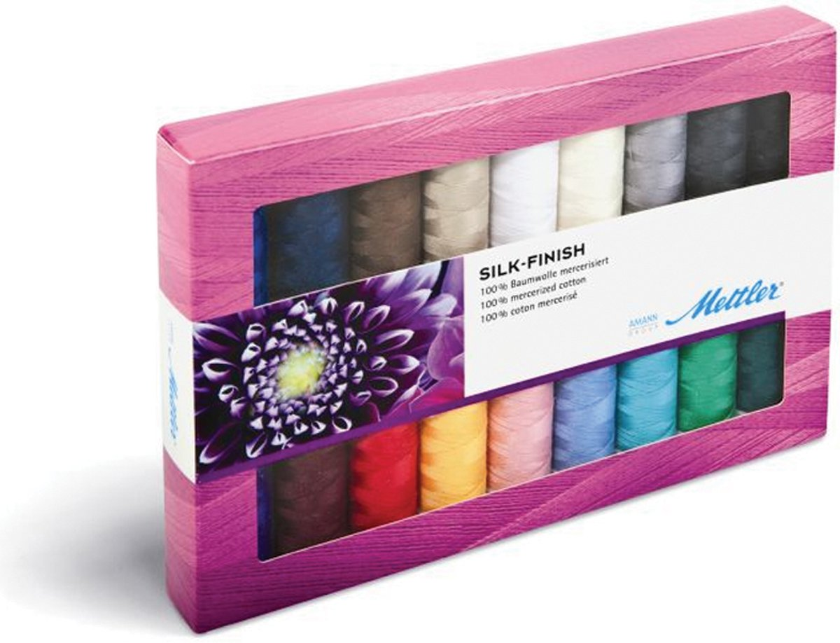 American & Efird Mettler Silk Finish Cotton Gift Pack Article 105, 18 Color by American & Efird