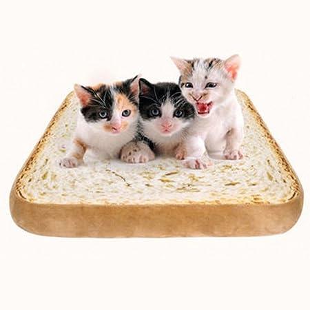 TOOGOO Cojin estera para mascotas forma de pan tostado ...