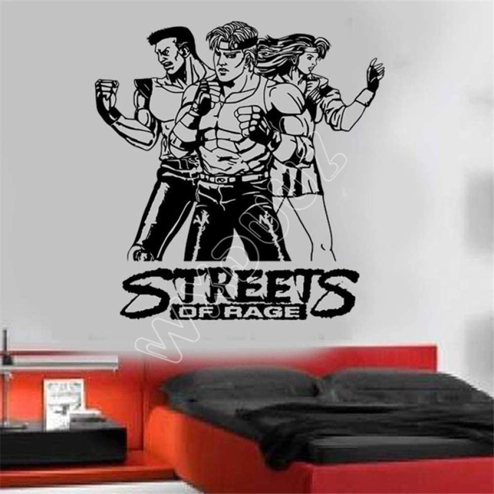 xingbuxin Sala de Estar de Vinilo Space Street Angry Classic Vinyl Wall Art Sticker Etiqueta de la Pared Decoración para el hogar Tatuajes de Pared Blanco 58 x 60 cm