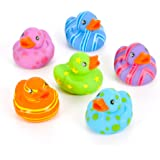 Rin 12 Colorful Pattern Rubber Ducky Party Favors by RIN