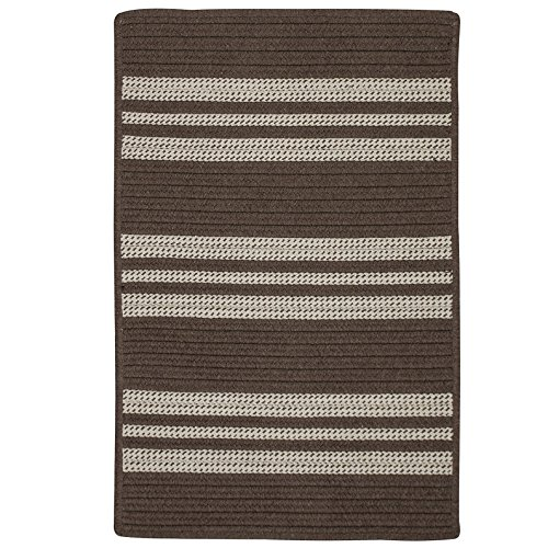 Sunbrella Southport Stripe UH09SAMPLES Sample Swatch Rugs, 14 x 17, Mink Brown