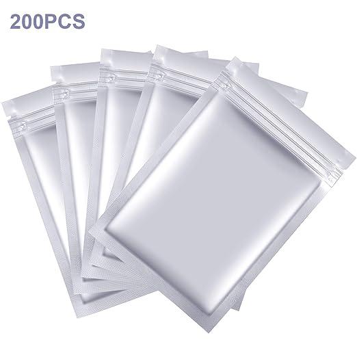 200 bolsas de aluminio de 3,5 x 5,5 pulgadas selladas con ...