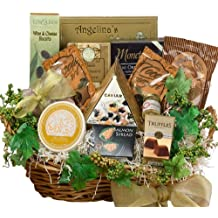 Savory Sophisticated Gourmet Food Gift Basket with Caviar, Large (Candy Option)