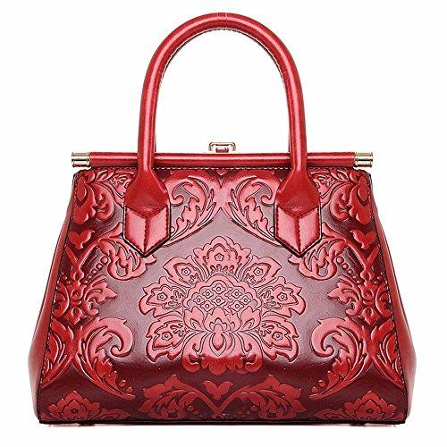 Femme l'épaule à pour Red Red à BMKWSG Sac Porter Rouge vYB1fBExR
