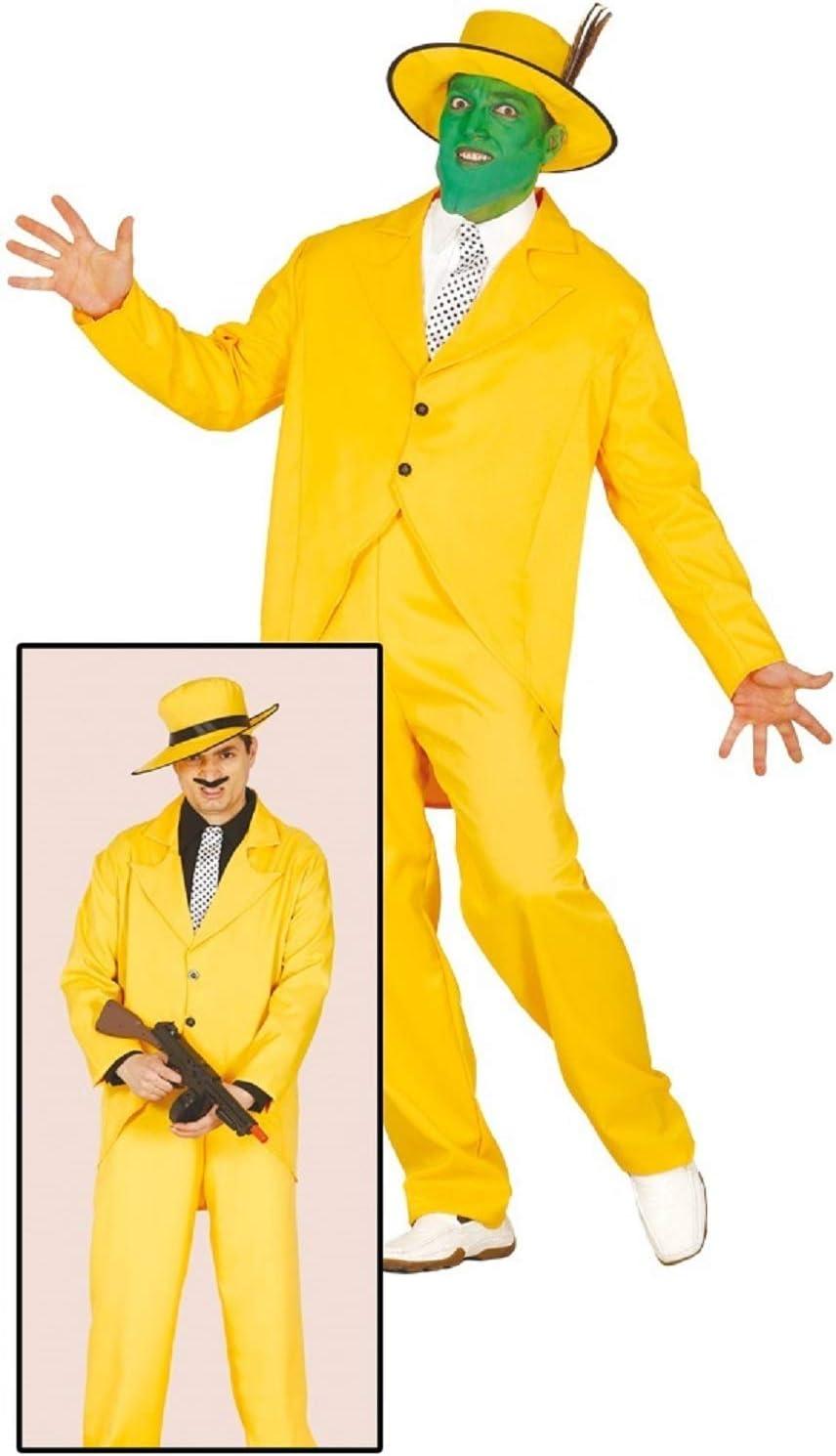 hombre amarillo años 20 Gánster La Máscara Disfraz de Halloween ...