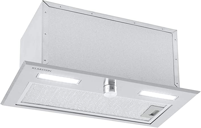 Klarstein Simplica 52 campana extractora - 52 cm de ancho, extracción de 400 m³/h, función de ventilación, botón giratorio, 3 niveles, iluminación LED de 1,5 W, acero inoxidable: Amazon.es: Hogar