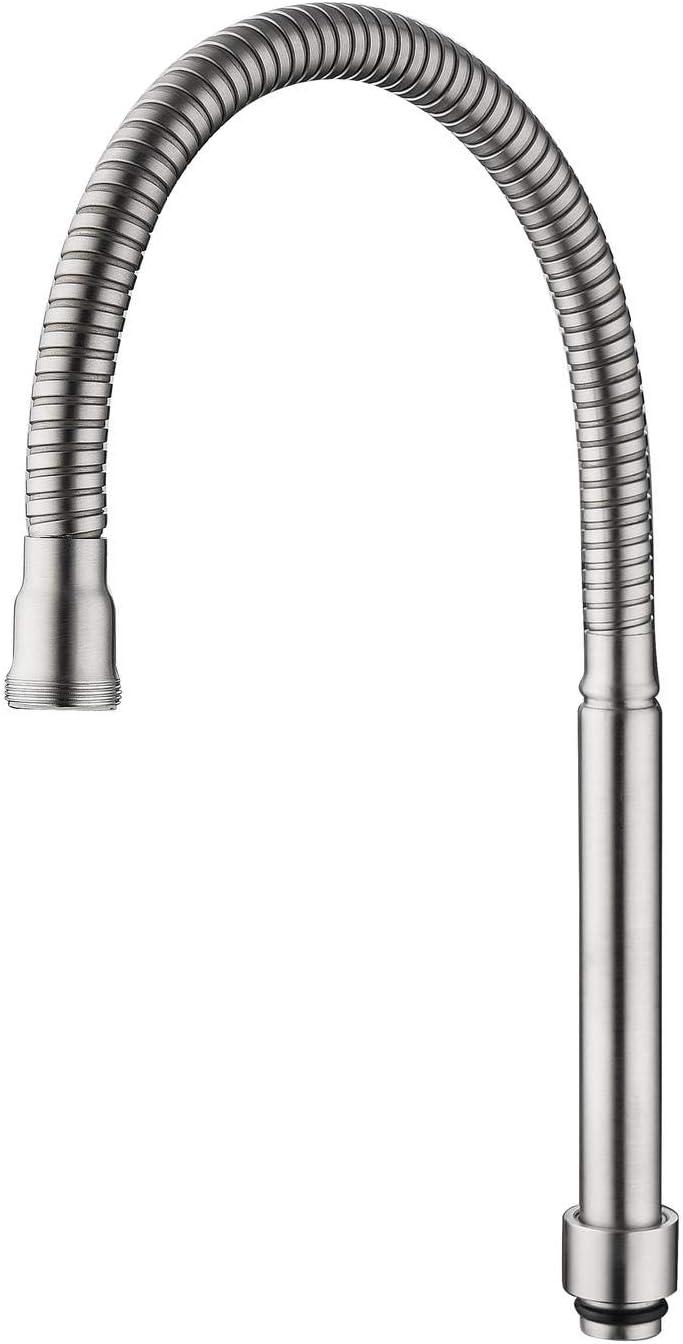 HomeLava - Manguera de repuesto para grifo, manguera flexible de salida de acero inoxidable cepillado 304, rotación de 360 °, para montaje en pared y para reemplazar grifos de cocina