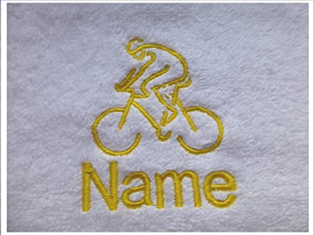 Hand Towel Bath Towel or Bath Sheet Personalised with MOTORBIKE logo and name of your choice Face Cloth 30x30cm EFY Face Cloth