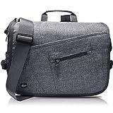 """Search : Qipi Messenger Bag - Shoulder Bag for Men & Women, 15"""" Laptop Pocket (Grey)"""