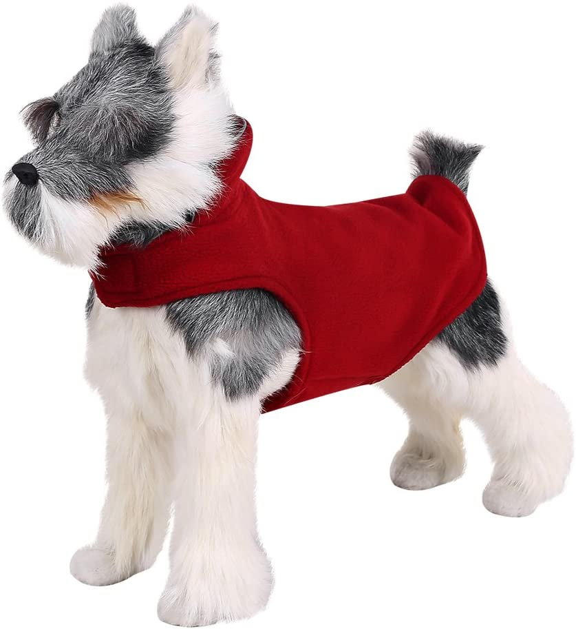 Dogs Pet Autumn Winter Jacket Sweater Vest Apparel Clothes for Small Medium and Large Dogs FOREYY Reflective Dog Fleece Coat with Leash Attachment Hole