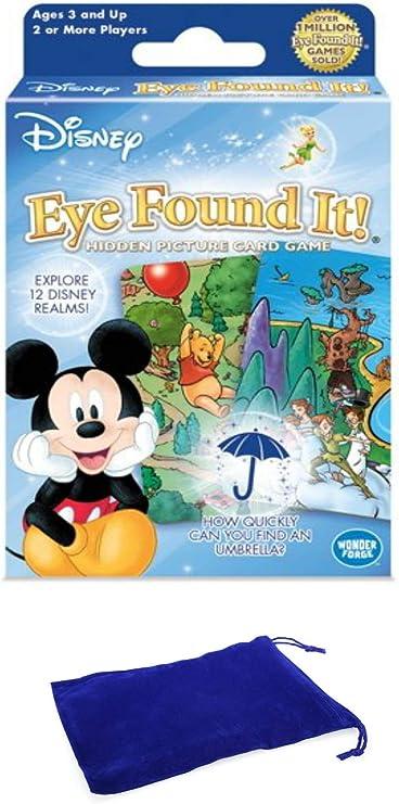 Juego de Cartas Disney Eye Found It con Bolsa de cordón: Amazon.es ...