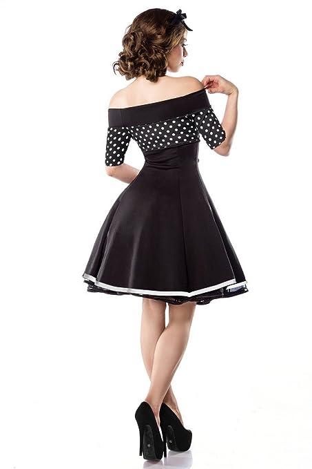 Belsira vintage petticoat kleid im marine look