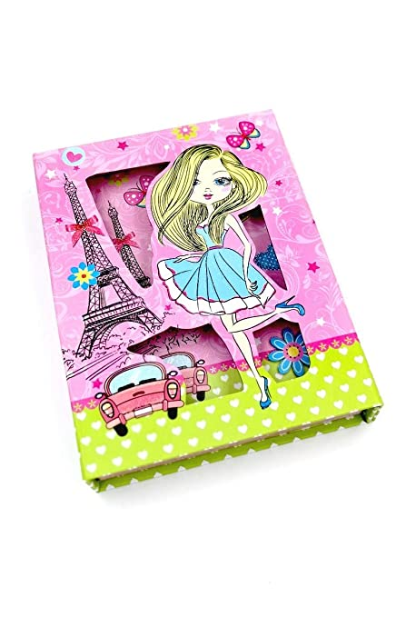 Beautiful Diva Fashionista Theme Lock Diary In A Hard Case Cover For Birthday Return Gifts Kids
