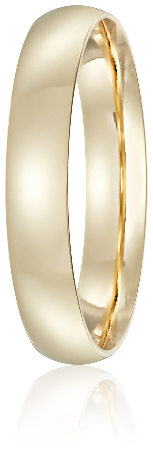 Light Comfort-Fit 14K Yellow Gold Band, 4mm, Size 9 by Amazon Collection (Image #2)