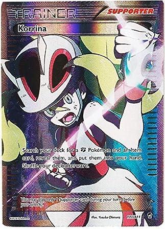 amazon pokemon trainer korrina full art furious fists 110 111 by