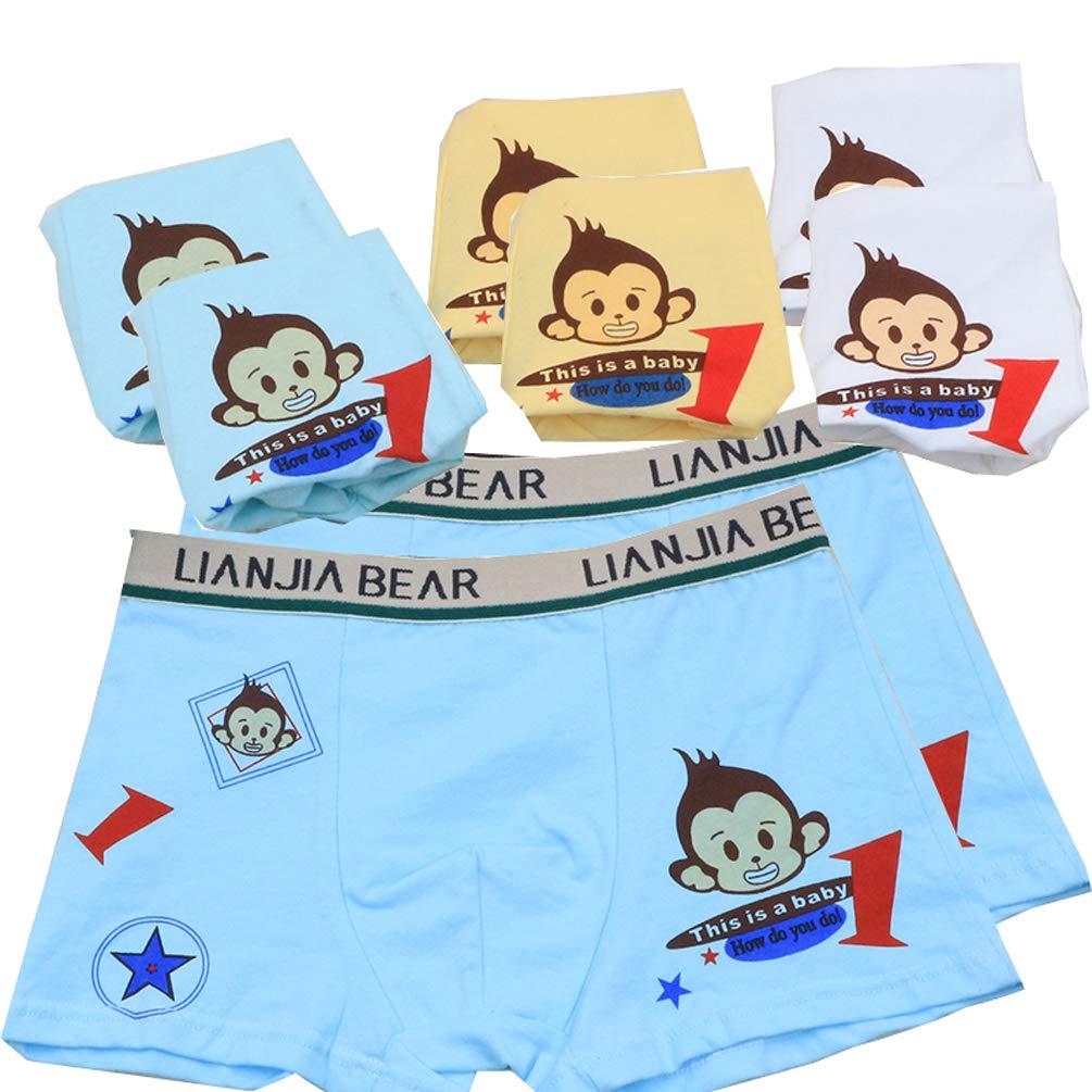 YCandJY Soft Cotton Kids Underwear Cartoon Little Boys Boxer Briefs Mix Color(5/8 Pack) 2-10Y ...