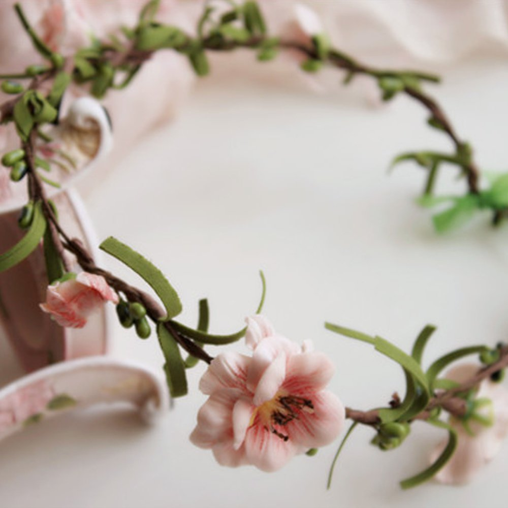 Amazon jasmine flower headband with ribbon flower wreath amazon jasmine flower headband with ribbon flower wreath wedding garland for bridal artificial flowers photography props 7 inches diameter champagne izmirmasajfo