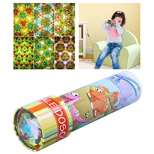 IBASETOY Classic Kaleidoscope Toy with Metal Body - 6 Different Exterior Designs Random Delivery, New Year Gift for Kids, 1 Piece