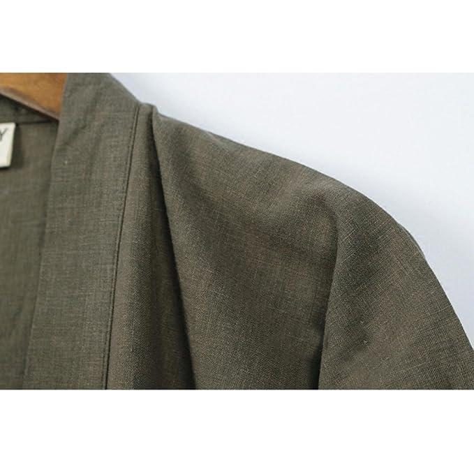 5ed3c64b0f Elegant Women s Japanese Style Long sleeve Robes Cotton Kimono Pajamas Suit  Dressing Gown Set- A at Amazon Women s Clothing store