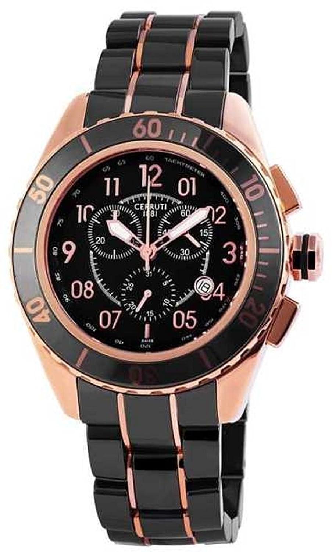 Cerruti Herren Armbanduhr Keramik Schwarz CRA079Z271H