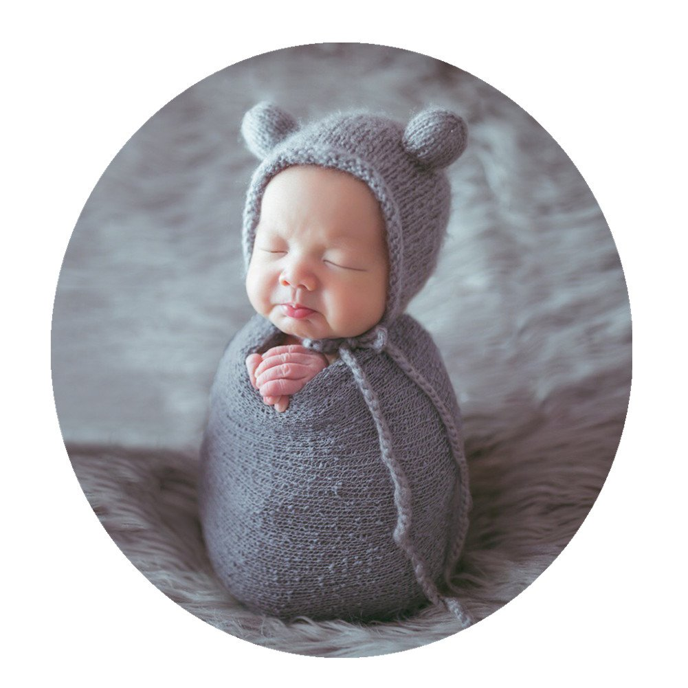 Newborn Baby Photography Props Outfits Hat Long Ripple Wrap Set for Boys Girls Photography JM-980