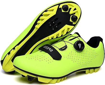 Zapatillas De Bicicleta De Montaña, Hombre Calzado De Bicicleta Zapatos De Bicicleta Antideslizantes Transpirables para Ciclismo De Carretera Y Ciclismo De Montaña: Amazon.es: Deportes y aire libre