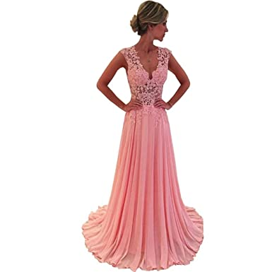 Chady Cheap Prom Dresses 2017 Long New Charmming V-Neck Floor Length Chiffon with Top
