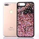 iPhone 6s plus case,liujie Liquid Cool Quicksand Moving Stars Bling Glitter Floating Dynamic Flowing Case Liquid Cover for Iphone 6s plus 5.5inch (Hei-7#)