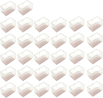 Maydahui 24PCS Rectangle Chair Leg Floors Protector Silicone Caps Rubber Covers