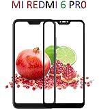 Rexez Full Glue Edge to Edge 9H Tempered Glass for Xiaomi Redmi 6 Pro (Black)