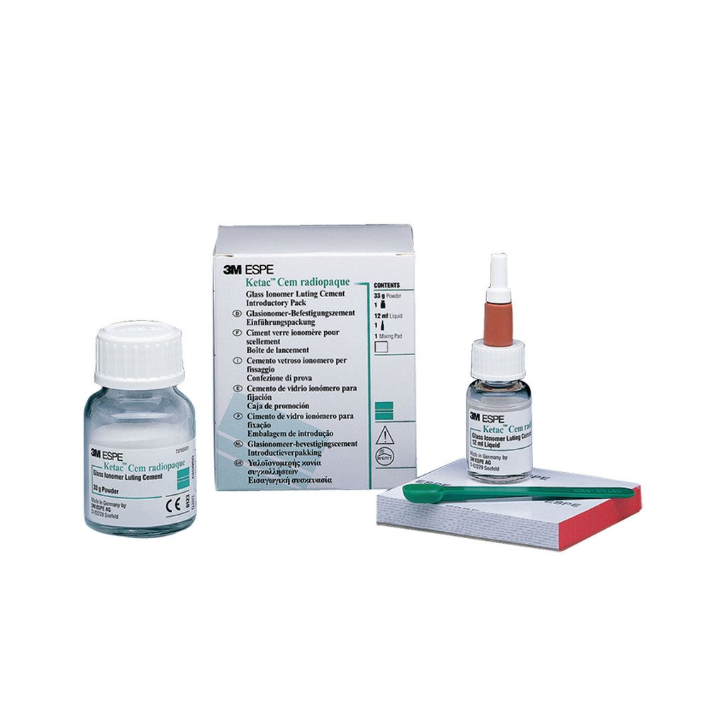 3M 37201 Ketac Cem Radiopaque Permanent GLASS Ionomer Luting Cement Introductory Kit
