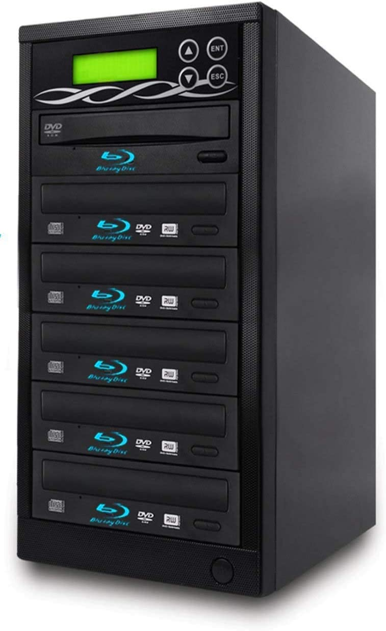 BestDuplicator Blu-Ray BD BDXL M-Disc 5 Target DVD//CD Duplicator 14X Copier Tower Replication Recorder Burner 1-5