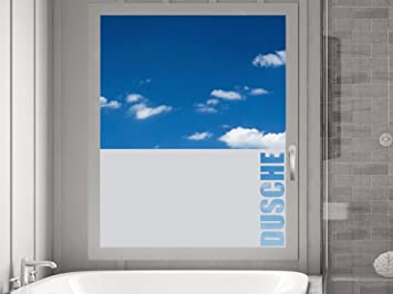 Graz Design Sichtschutzdekor Duschtür Dusche Milchglasfolie für ...