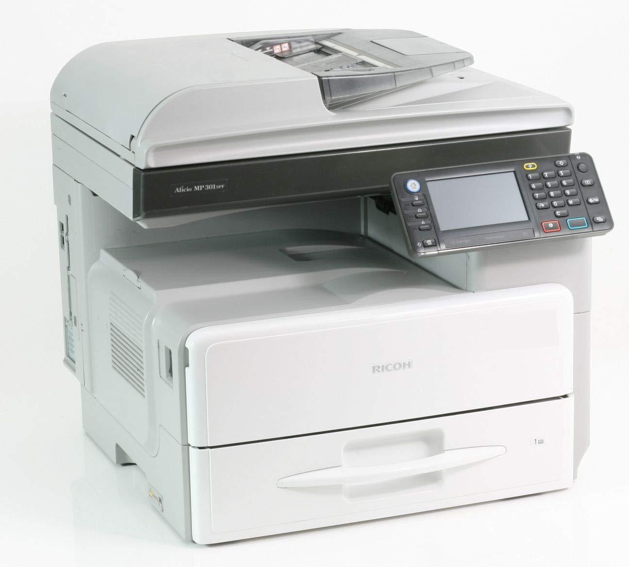 Ricoh Aficio MP 301 - Impresora láser (30 ppm), Gris y Blanco ...