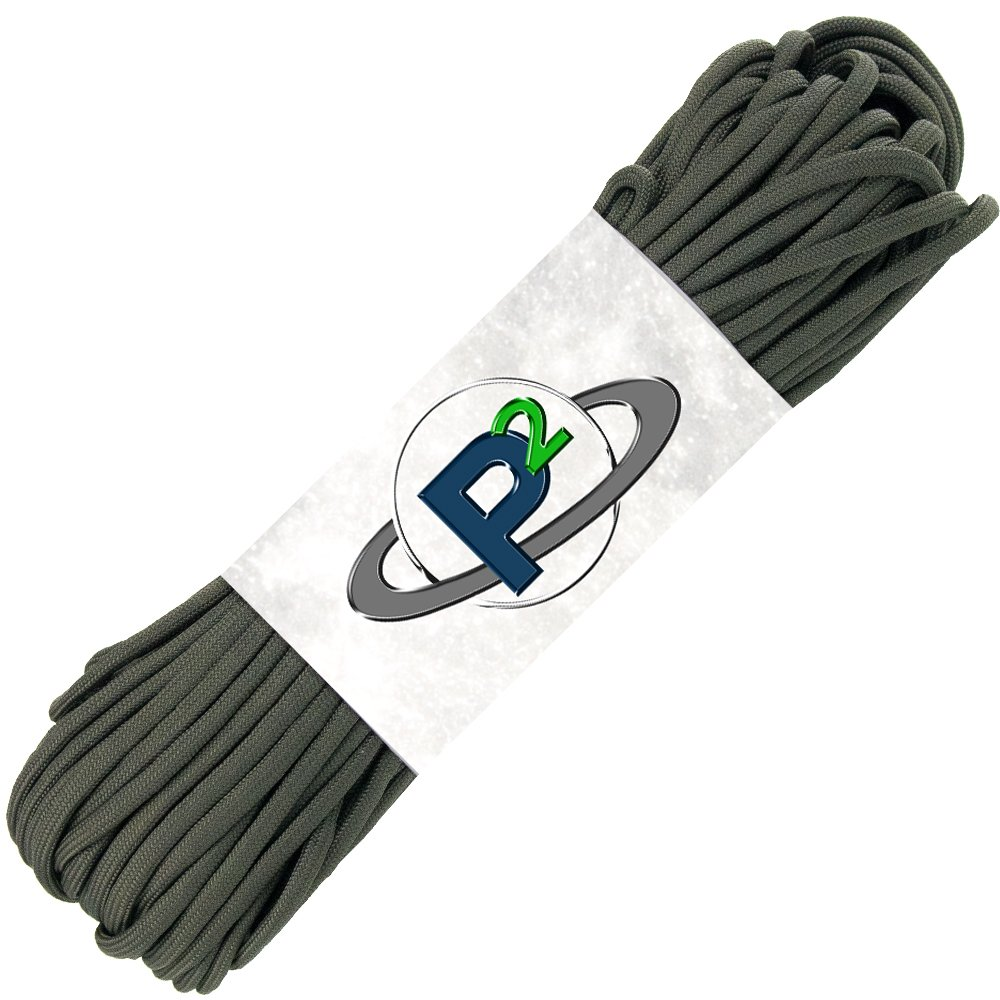 PARACORD PLANET Mil-Spec Commercial Grade 550lb Type III Nylon Paracord (Olive Drab, 50 feet) by PARACORD PLANET
