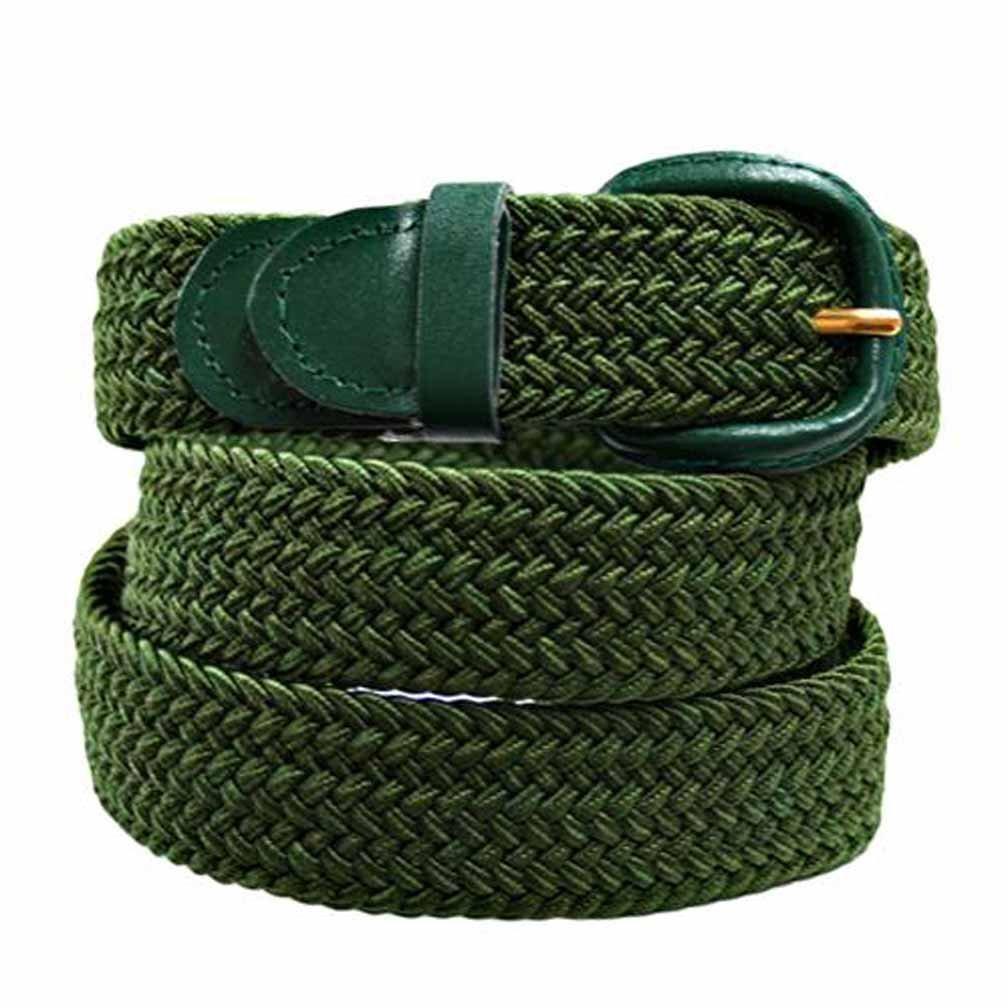 Luxury Divas Hunter Green Braided Elastic Stretch Belt Size Medium