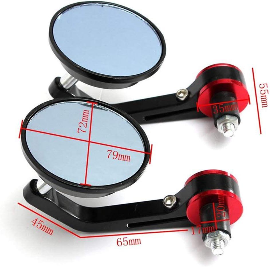 Black LIUYE 1 Pair Universal 7//8 Motorcycle Round Handlebar Bar End Rear View Mirrors Motorcycle Side View Mirror